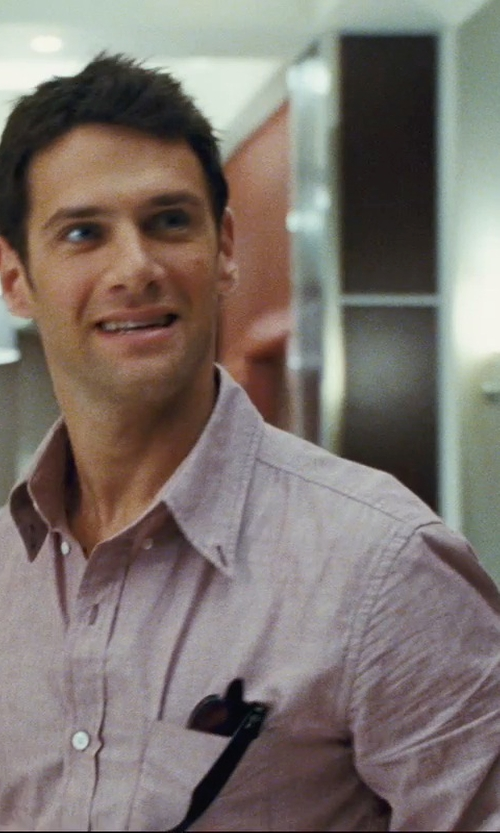 Justin Bartha with Ray-Ban Wayfarer Black Sunglasses in The Hangover