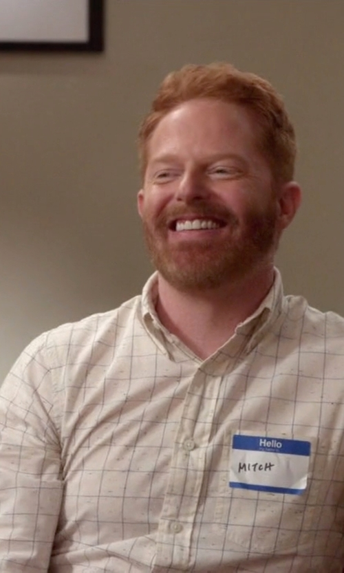 Jesse Tyler Ferguson with Jack Spade 'Parrish' Trim Fit Windowpane Sport Shirt in Modern Family