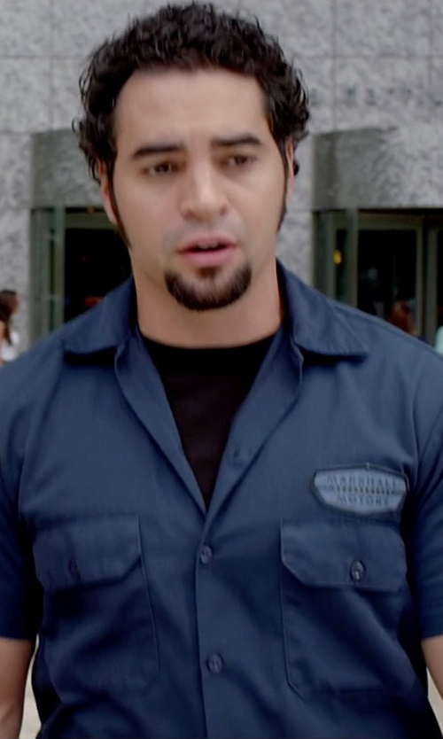 Ramon Rodriguez with Tasso Elba Island Short Sleeve Slub Crew Neck Pocket T-Shirt in Need for Speed