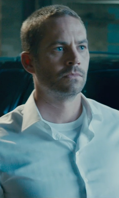 Paul Walker with Hanro Cotton Crewneck Tee Shirt in Furious 7