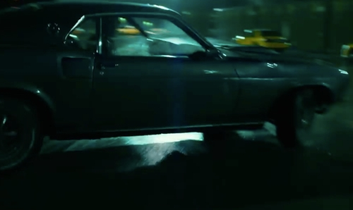 Keanu Reeves with Ford 1969 Mustang Mach1 Coupe in John Wick: Chapter 2