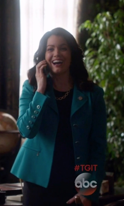 Bellamy Young with Seventy Single Breasted Blazer in Scandal