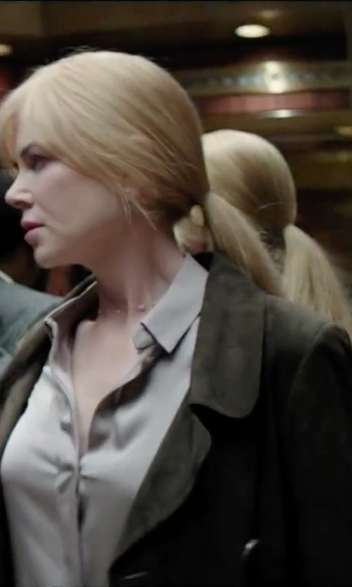 Nicole Kidman with Paul & Joe Front Button Closure Blazer in Secret in Their Eyes