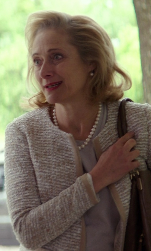 Caroline Goodall with Saint Laurent Draped Crepe Blouse in The Best of Me
