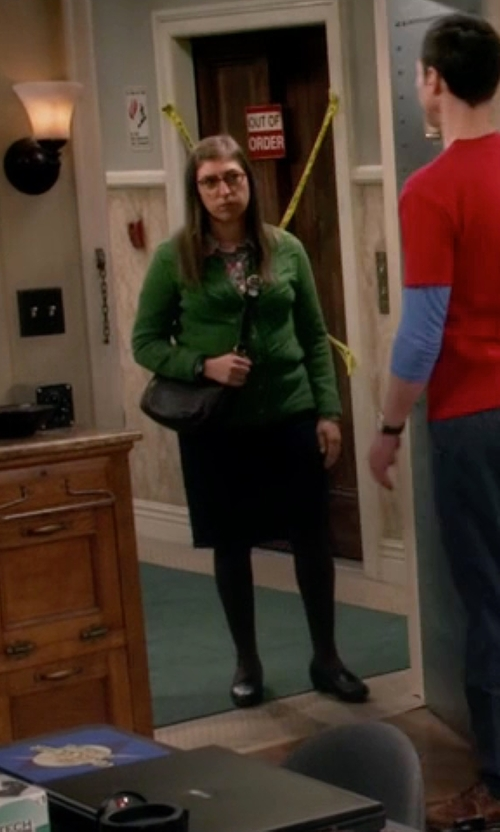 Mayim Bialik with Osgoode Marley Women's Robin Zip Top Convertible Bag in The Big Bang Theory