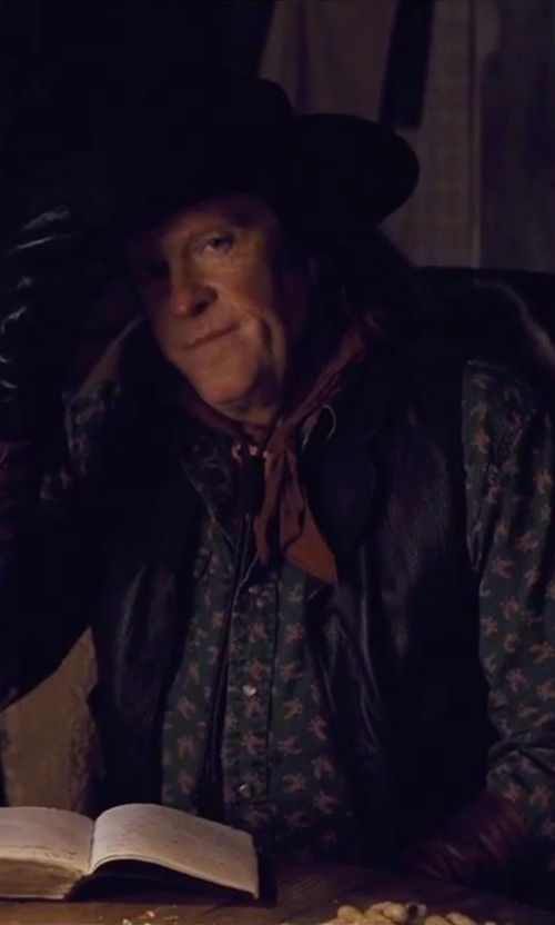 Michael Madsen with Albertus Swanepoel Bobby Fedora Hat in The Hateful Eight