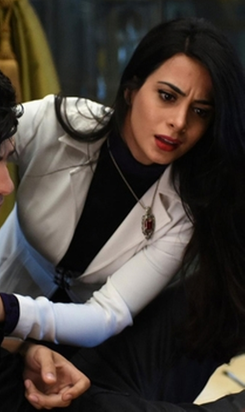 Emeraude Toubia with Proenza Schouler SB Blazer in Shadowhunters