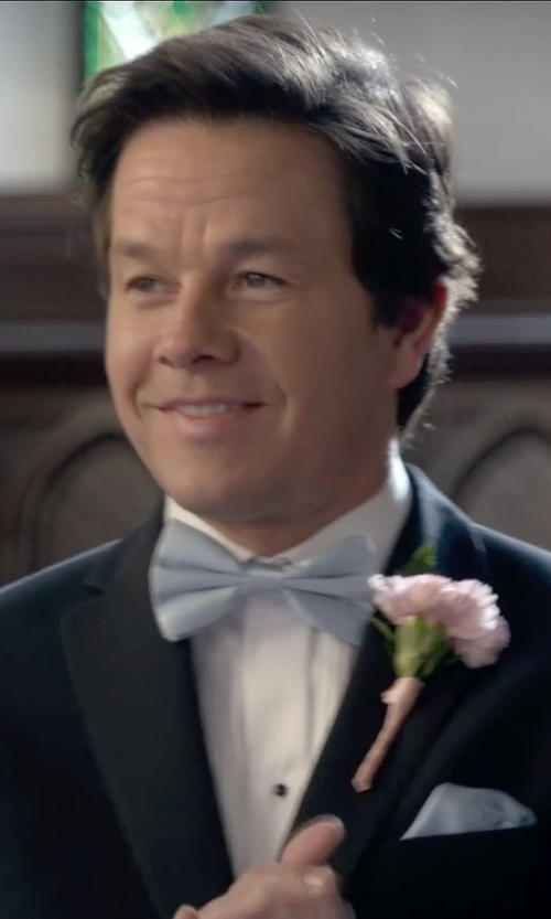 Mark Wahlberg with Vesuuvio Napoli Baby Blue Men's Bowtie in Ted 2