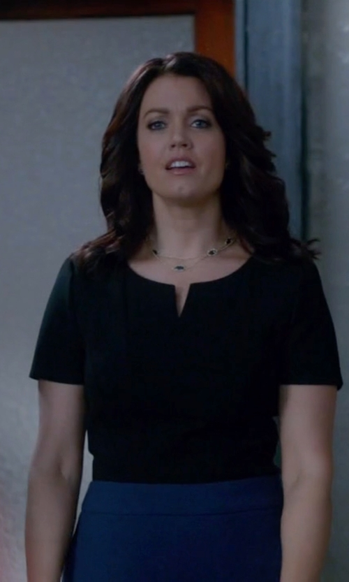 Bellamy Young with Frame Satin Blouse in Scandal