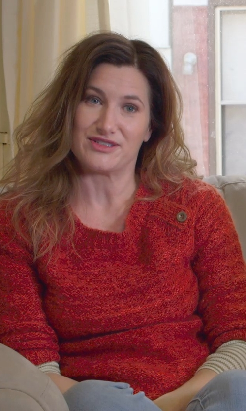 Kathryn Hahn with Caroline Rose Ottoman Knit 3/4-Sleeve Tunic in The Visit