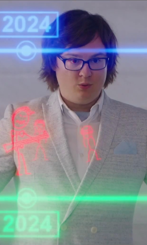 Clark Duke with Hugo Boss Silk Pocket Square in Hot Tub Time Machine 2