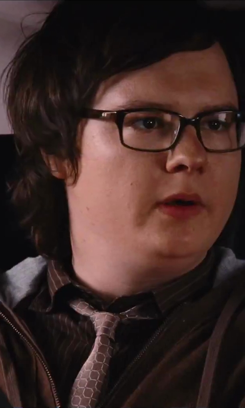 Clark Duke with Maestrami Striped Dress Shirt in Hot Tub Time Machine 2