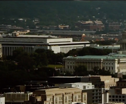 Unknown Actor with James Madison Memorial Building Capitol Hill, Washington, D.C in Mission: Impossible - Rogue Nation