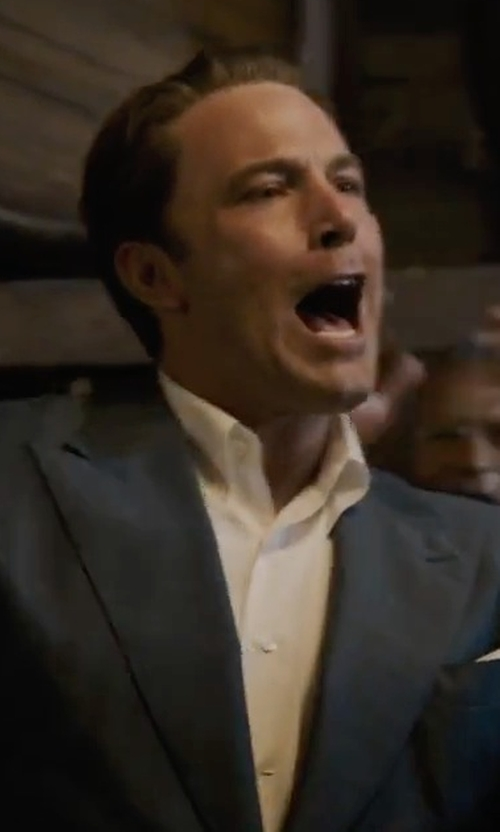 Ben Affleck with Tom Ford Windsor Base Irregular-Check Suit in Live By Night