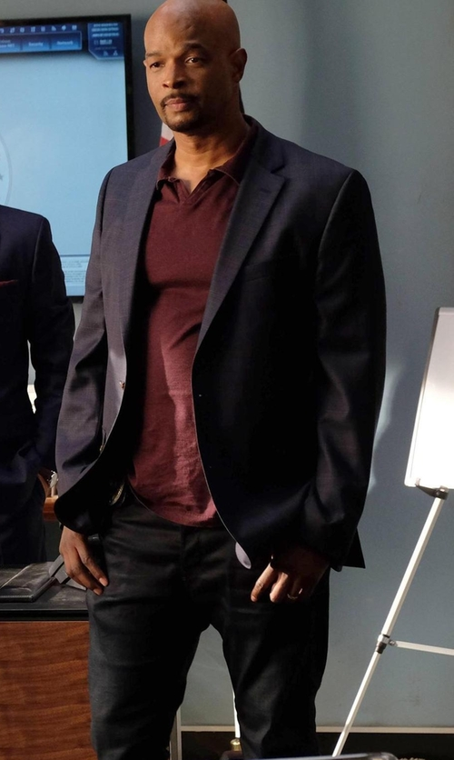 Damon Wayans with J Brand Jeans  Brooks Slim-Fit Twill Trousers in Lethal Weapon