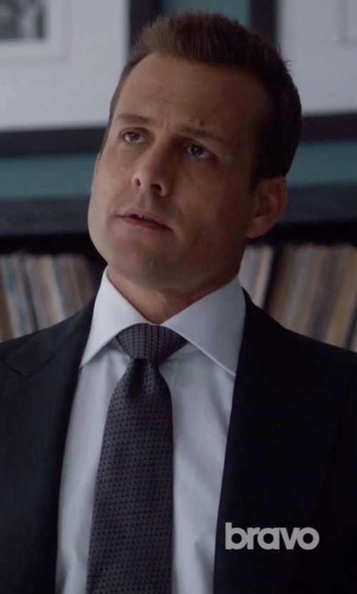 Gabriel Macht with Brioni Micro Striped Dress Shirt in Suits