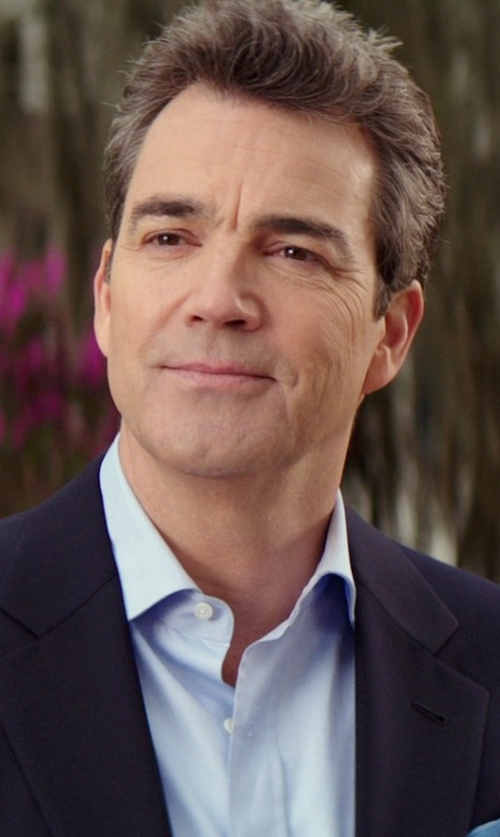 Jon Tenney with Charvet Solid Poplin Dress Shirt in The Best of Me
