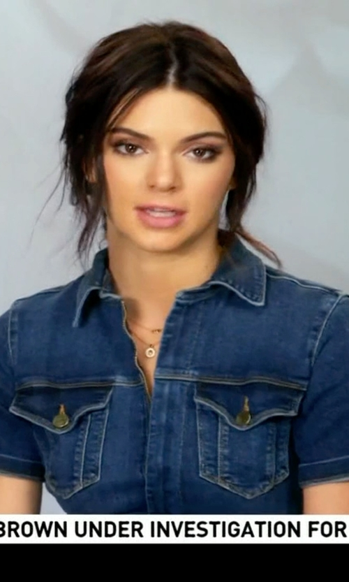 Kendall Jenner with Frame Denim Le Mechanic Flare Jumpsuit in Keeping Up With The Kardashians