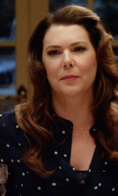 Lauren Graham with J. Crew Silk Popover Shirt in Gilmore Girls: A Year in the Life