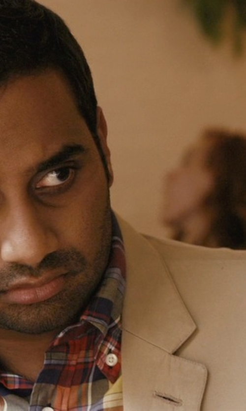 Aziz Ansari with Versace Pindot  Two-Piece Wool Suit in Master of None