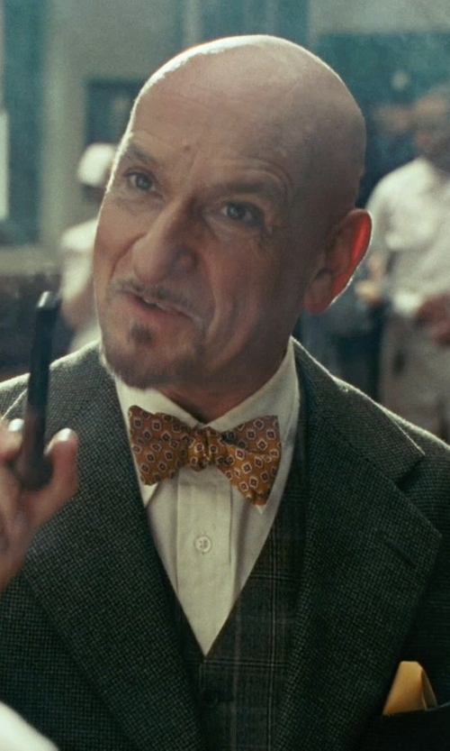 Ben Kingsley with Boss Hugo Boss Slim Fit Dress Shirt in Shutter Island