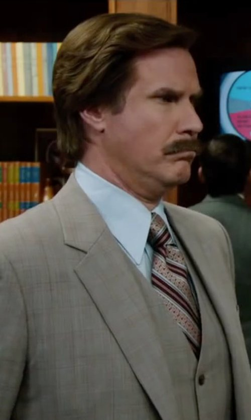 Will Ferrell with Theory Slyvain Solid Dress Shirt in Anchorman 2: The Legend Continues
