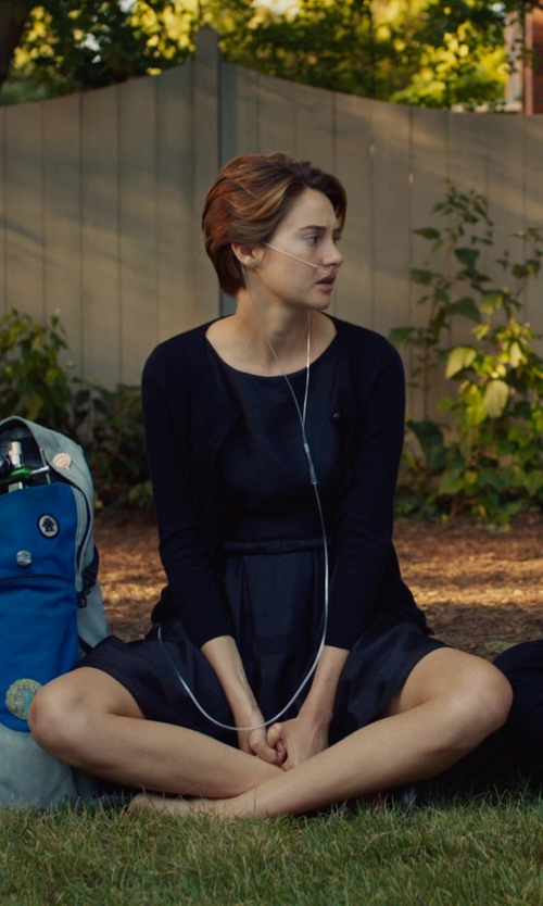Shailene Woodley with Taylor Dresses Tonal Stripe Fit & Flare Dress in The Fault In Our Stars