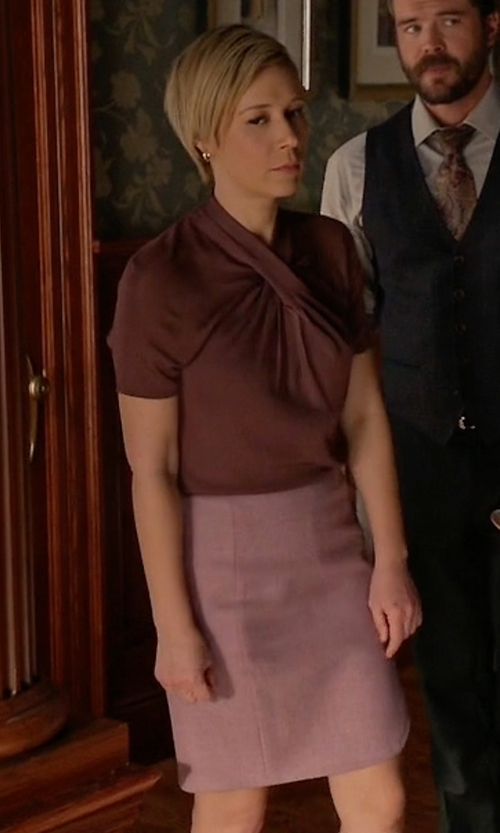 Liza Weil with Lanvin Vintage High Waisted Pencil Skirt in How To Get Away With Murder