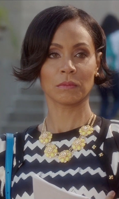 Jada Pinkett Smith with M Missoni Placed Greek Knit Cardigan in Bad Moms