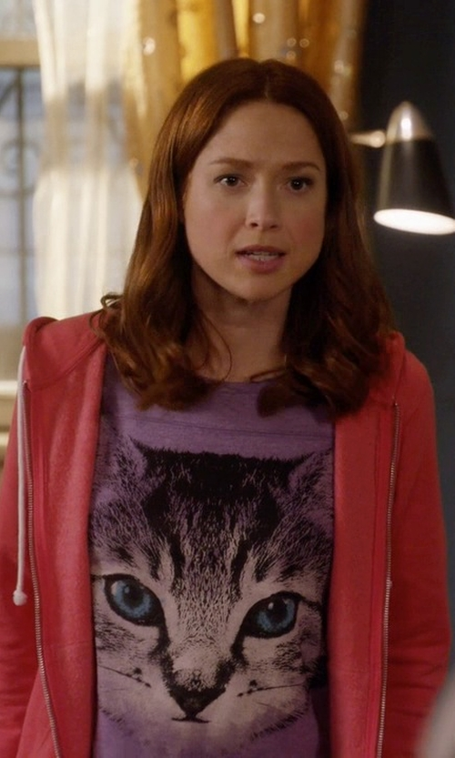 Ellie Kemper with Ralph Lauren Pink Pony Full-Zip Hoodie in Unbreakable Kimmy Schmidt