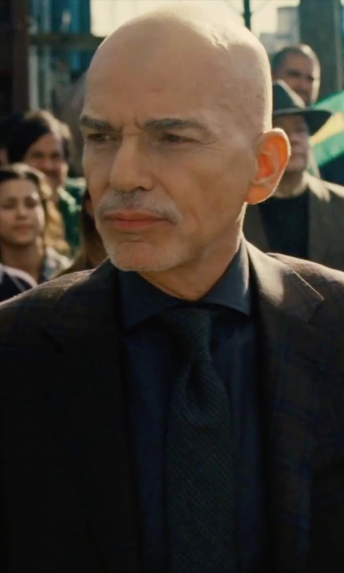 Billy Bob Thornton with Barneys New York Grenadine Necktie in Our Brand Is Crisis