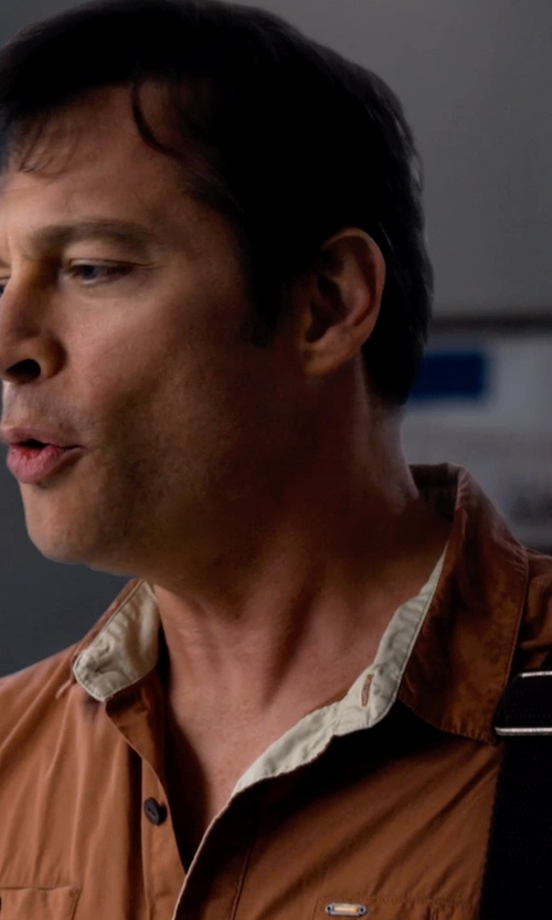Harry Connick Jr. with Ralph Lauren Black Label Long-Sleeve Military Mesh Polo Shirt in Dolphin Tale 2