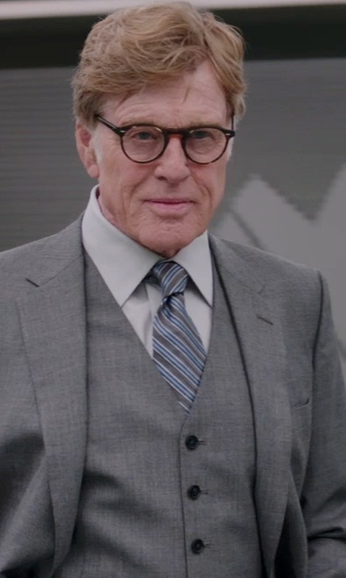 Robert Redford with HUGO 'Huge/Genius' Trim Fit Three-Piece Wool Suit in Captain America: The Winter Soldier