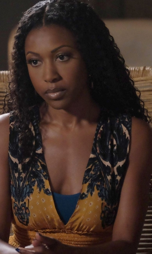 Gabrielle Dennis with Monique Lhuillier ML  A-Line Lace Cocktail Dress in Rosewood