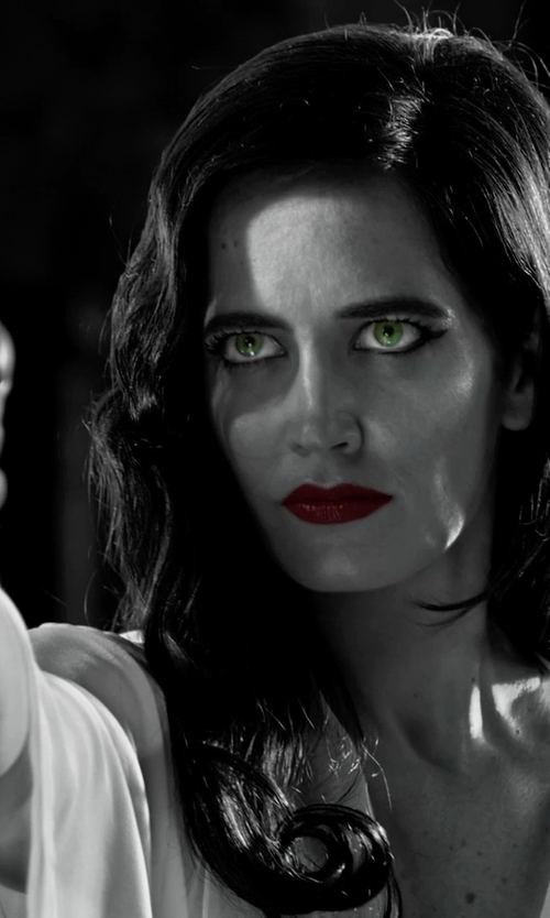 Eva Green with Eberjey Matilda Lace-Trimmed Jersey Robe in Frank Miller's Sin City: A Dame To Kill For