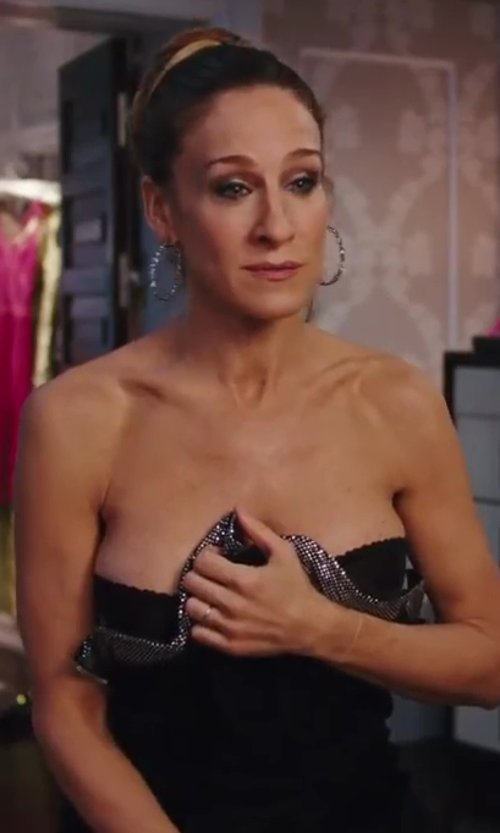 Sarah Jessica Parker with Balmain Sequin Jumpsuit in Sex and the City 2