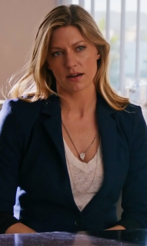 Jes Macallan with Elie Tahari Darcy One-Button Stretch-Wool Jacket in Mistresses
