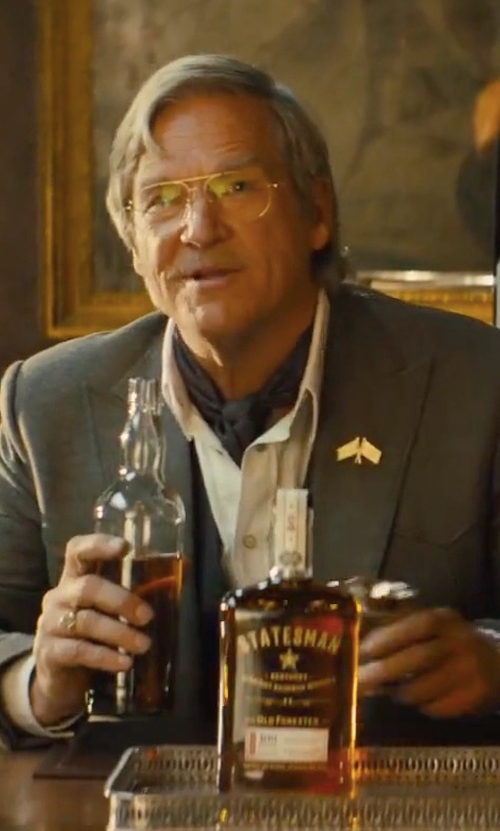 Jeff Bridges with Old Forester Statesman Kentucky Straight Bourbon Whiskey in Kingsman: The Golden Circle