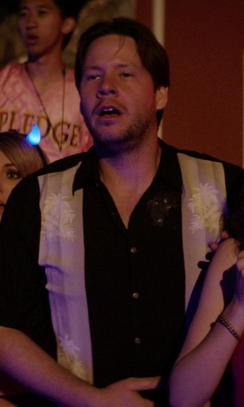 Ike Barinholtz with The Havanera Co. Short-Sleeve Camp Shirt in Neighbors