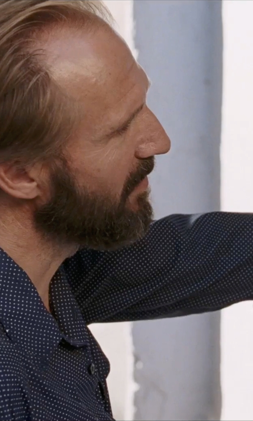 Ralph Fiennes with Sun 68 Polka Dot Shirt in A Bigger Splash