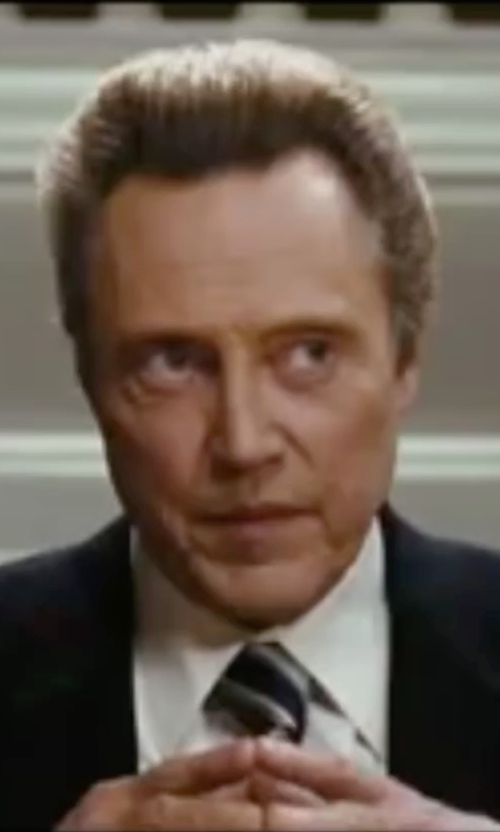 Christopher Walken with Black Brown 1826 Two Piece Henry Suit in Wedding Crashers