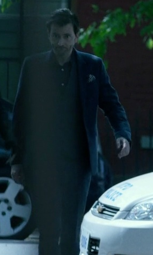 David Tennant with L.B.M. 1911 Blazer in Jessica Jones
