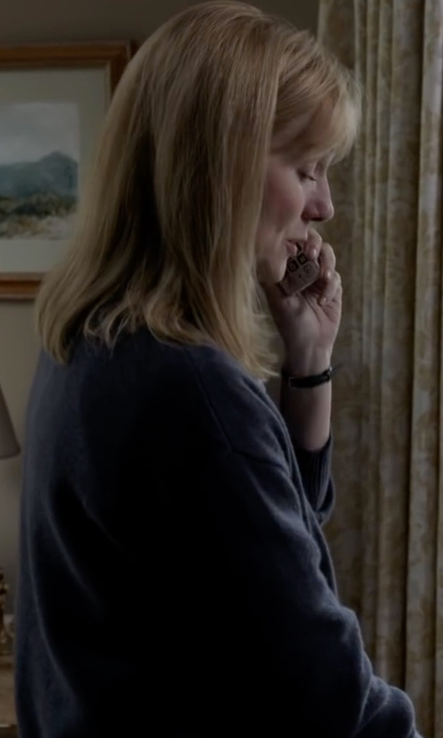 Laura Linney with Eileen Fisher  Long Washable Wool Cardigan in Sully