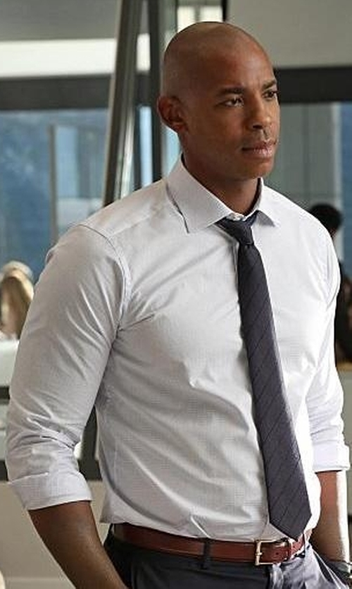 Mehcad Brooks with Hugo Boss Jacob Slim-Fit Cotton Shirt in Supergirl