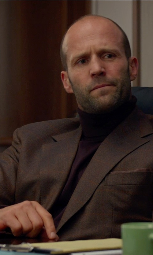 Jason Statham with Hickey Freeman Worsted Wool Sportcoat in Spy