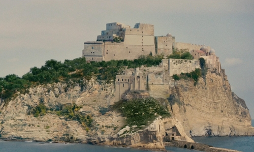Elizabeth Debicki with Ovo Castle Napoli, Italy in The Man from U.N.C.L.E.
