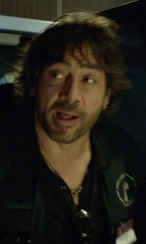 Javier Bardem with Cutler & Gross Rounded-Square-Frame Sunglasses in The Gunman