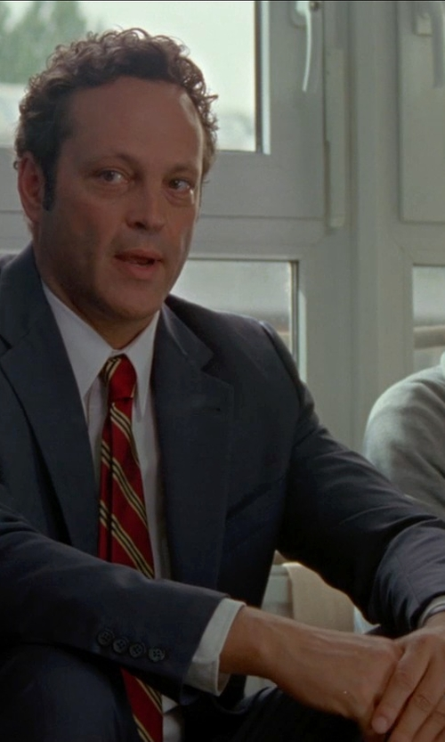 Vince Vaughn with Emporio Armani Round Chronograph Black Strap Watch in Unfinished Business