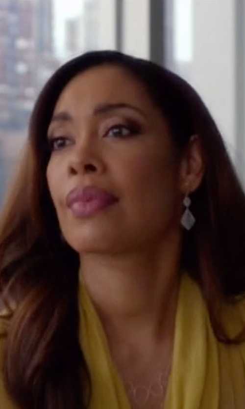 Gina Torres with Adriana Orsini Ophelia Faceted Drop Earrings in Suits