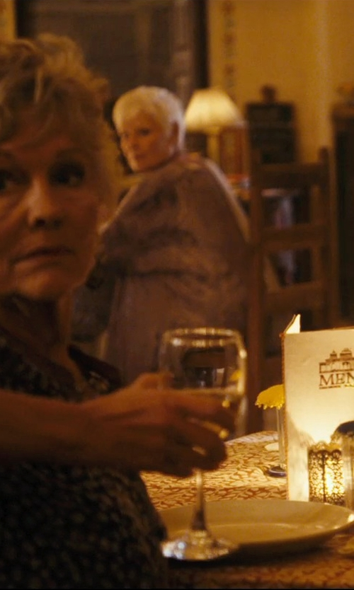Judi Dench with Giambattista Valli Paisley Print Blouse in The Second Best Exotic Marigold Hotel
